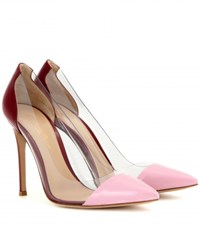 Gianvito Rossi Leather And Transparent Pumps Pink