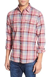 Men's Wallin And Bros. Trim Fit Crepe Plaid Work Shirt