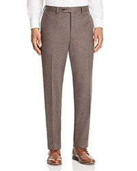 Jack Victor Loro Piana Stretch Flannel Classic Fit Trousers 100 Bloomingdale's Exclusive Taupe