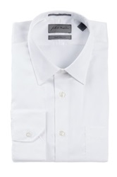 John W. Nordstrom Solid Traditional Fit Long Sleeve Dress Shirt White