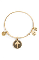 Alex And Ani 'Stand Up To Cancer' Expandable Wire Bangle Russian Gold