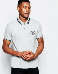 Dkny Polo Shirt Rubber Chest Logo Grey