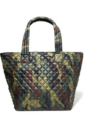 M Z Wallace Mz Metro Camouflage Print Quilted Shell Tote Army Green