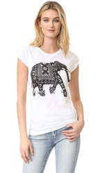 Happiness Elephant Tee White