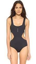 Tavik Victoria Zip Front One Piece Black