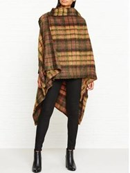Vivienne Westwood Anglomania Tartan Mohair Gaia Cape Yellow
