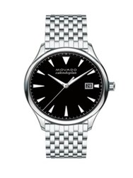 Movado Heritage Stainless Steel Bracelet Watch Black