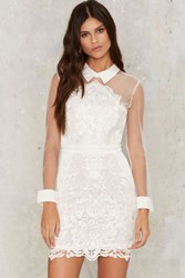 Avery Crochet Lace Dress White