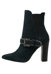 Supertrash Macy High Heeled Ankle Boots Navy Blue