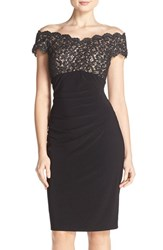 Xscape Evenings Women's Xscape Lace And Jersey Sheath Dress