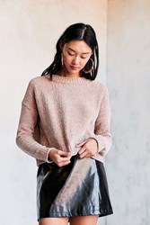 Silence And Noise Chenille Pullover Sweater Taupe