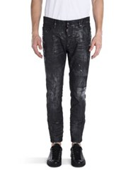 Dsquared Faded Distressed Jeans Black