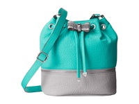 Jessica Simpson Evonne Drawstring Aqua Light Grey Shoulder Handbags Blue