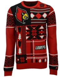 Forever Collectibles Men's Louisville Cardinals Patches Christmas Sweater