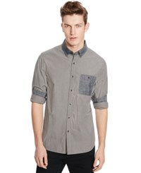 Kenneth Cole Reaction Long Sleeve Mini Check Shirt