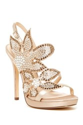 Nina Shoes Bryce Rhinestone Heel Metallic