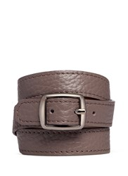 Bynd Artisan Triple Wrap Leather Bracelet Grey Brown