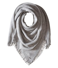 Calvin Klein Cashmere Like Acrylic Square Scarf Heathered Mid Grey Scarves Blue