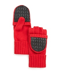 Lauren Ralph Lauren Quilted Pop Top Gloves Red