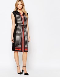 Oasis Geo Heart Scarf Print Dress Multi
