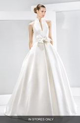 Women's Jes S Peir Bow Detail Satin Halter Dress In Stores Only