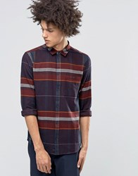 Weekday Delta Flannel Shirt 46 215 Wine Red