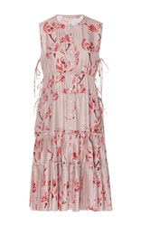 Brock Collection Danielle Oleander Silk Twill Dress Floral