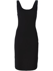 Hache Fitted Dress Black