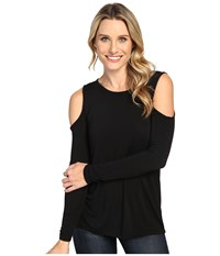 Allen Allen Open Shoulder Black Women's Clothing