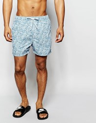 Selected Homme Printed Swim Shorts Blue