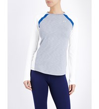 Under Armour Coldgear Long Sleeved Stretch Jersey Top Grey Heather