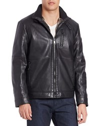 Karl Lagerfeld Faux Fur Lined Bomber Jacket Black