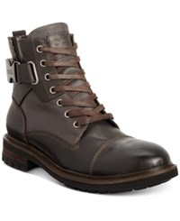 Guess Men's Rand Utility Cap Toe Boot Men's Shoes Dark Brown