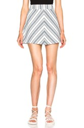 See By Chloe Striped Mini Skirt In Blue White Stripes Geometric Print