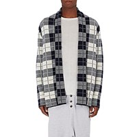 The Elder Statesman Men's Plaid Cashmere Smoking Jacket No Color