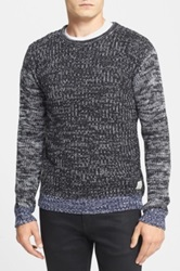 Native Youth Contrast Sleeve Crewneck Sweater