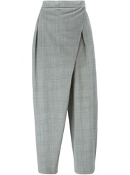 Antonio Marras Cropped Cross Front Trousers Grey