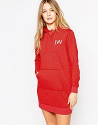Jack Wills Clarendon Hoodie Dress Red