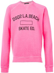 Dsquared2 Front Print Sweatshirt Pink And Purple