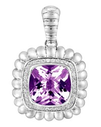 John Hardy Bedeg Purple Amethyst And Diamond Pendant Enhancer Women's