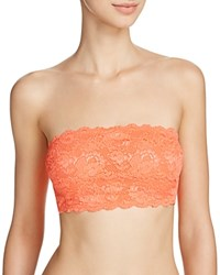 Cosabella Never Say Never Flirtie Lace Trimmed Bandeau Bra Never1102 Neon Orange