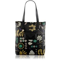 Radley Herbarium Black Large Shoulder Bag Black