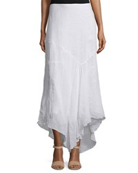 Theory Halvinnie Soft Linen Maxi Skirt White