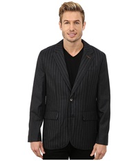 Robert Graham Slattery Woven Sportcoat Charcoal Men's Coat Gray