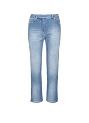Valentino 'Rockstud Untitled' Whiskered Boyfriend Chinos Blue