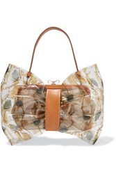 Red Valentino Redvalentino Leather Trimmed Printed Pvc And Canvas Shoulder Bag Multi