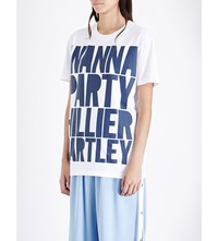 House Of Holland Hillier Bartley Cotton Jersey T Shirt White