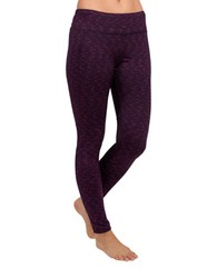 Jockey Textured Jersey Leggings Purple