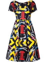 Moschino Moschino Couture Tool Print Dress Black