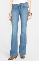 Free People 'Gummy' Mid Rise Flare Jeans Stevie Stevie Wash